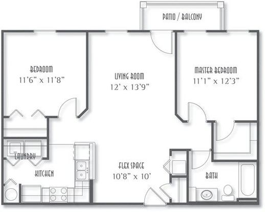 2 Bedrooms 1 Bathroom Apartment for rent at The Avenue At Polaris in Columbus, OH