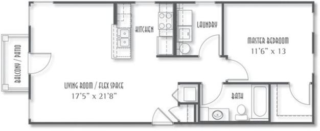 1 Bedroom 1 Bathroom Apartment for rent at The Avenue At Polaris in Columbus, OH