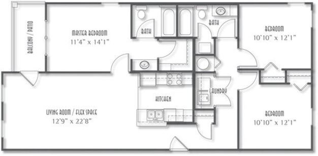 3 Bedrooms 2 Bathrooms Apartment for rent at The Avenue At Polaris in Columbus, OH