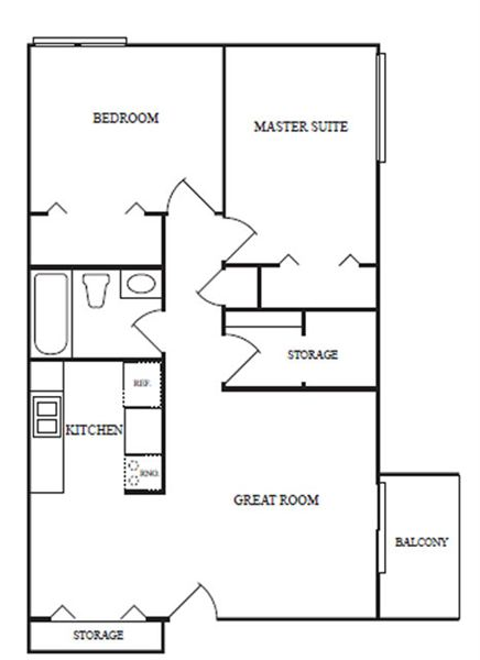 2 Bedrooms 1 Bathroom Apartment for rent at Washington Place Apartments in Clinton Twp, MI