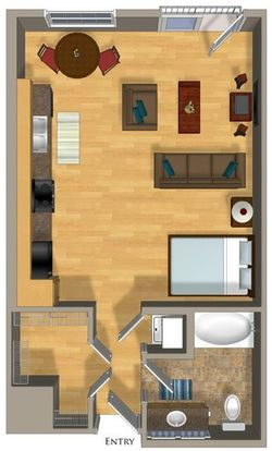Studio 1 Bathroom Apartment for rent at Talavera Apartments in Denver, CO