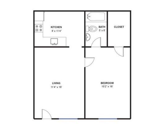 1 Bedroom 1 Bathroom Apartment for rent at 520 N Ashley St in Ann Arbor, MI