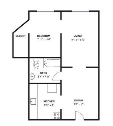 1 Bedroom 1 Bathroom Apartment for rent at 617 E Liberty St in Ann Arbor, MI
