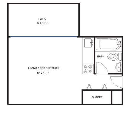 Studio 1 Bathroom Apartment for rent at Fritz Lofts in Ann Arbor, MI