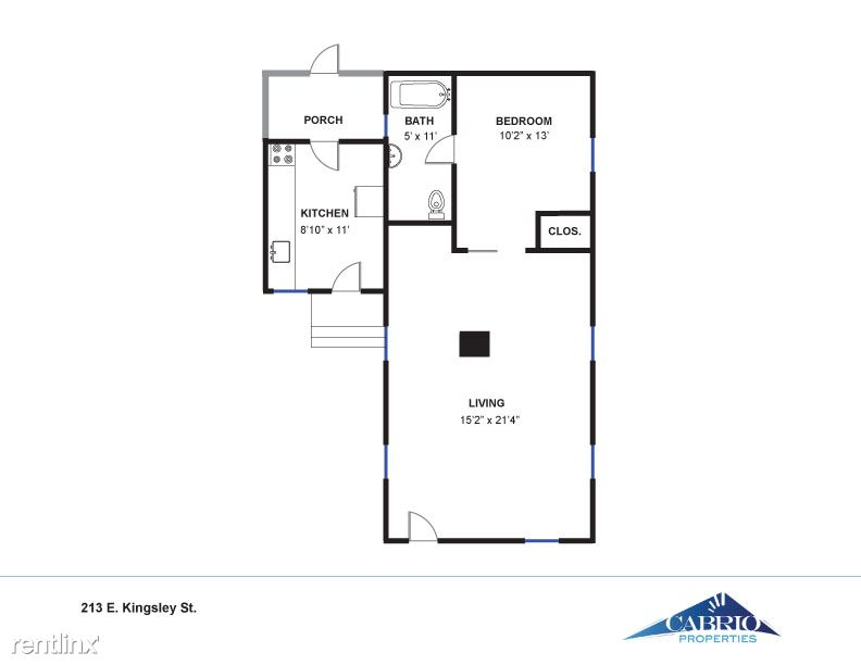 1 Bedroom 1 Bathroom Apartment for rent at Kerrytown One Bedroom House in Ann Arbor, MI