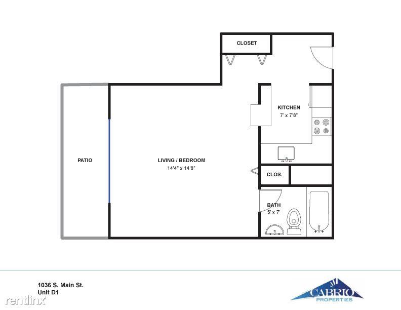 Studio 1 Bathroom Apartment for rent at Sans Souci in Ann Arbor, MI