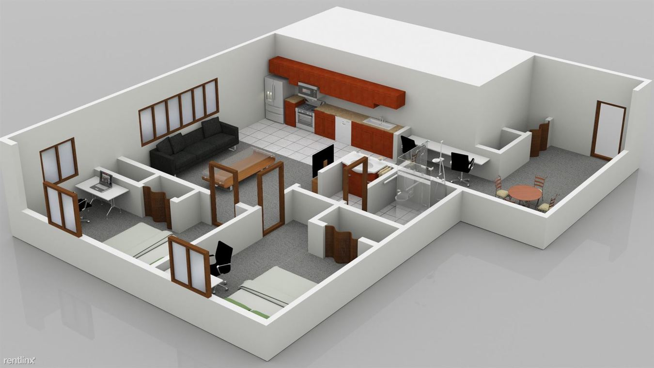 2 Bedrooms 1 Bathroom Apartment for rent at Corner House Apartments in Ann Arbor, MI