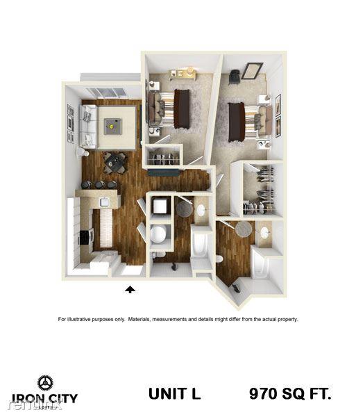 2 Bedrooms 2 Bathrooms Apartment for rent at Iron City Lofts in Birmingham, AL