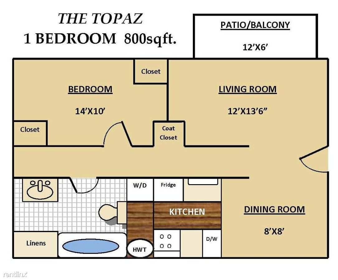 1 Bedroom 1 Bathroom Apartment for rent at Fieldstone Apartments in Sterling Heights, MI