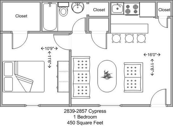 1 Bedroom 1 Bathroom Apartment for rent at Cypress Gardens in Cincinnati, OH