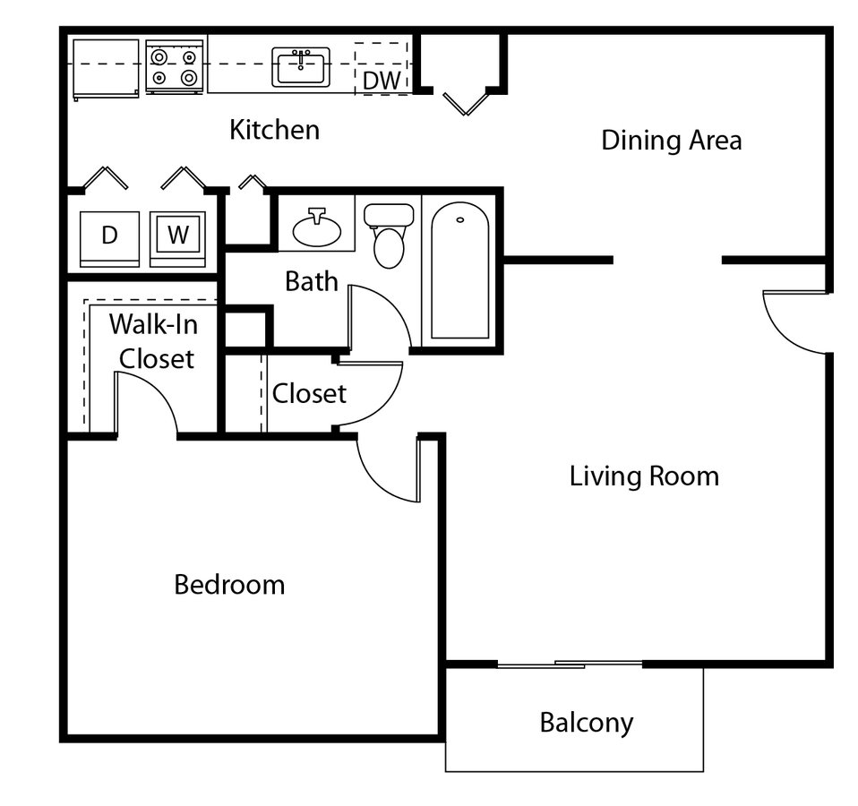 1 Bedroom 1 Bathroom Apartment for rent at Lacota Apartments in Dunwoody, GA