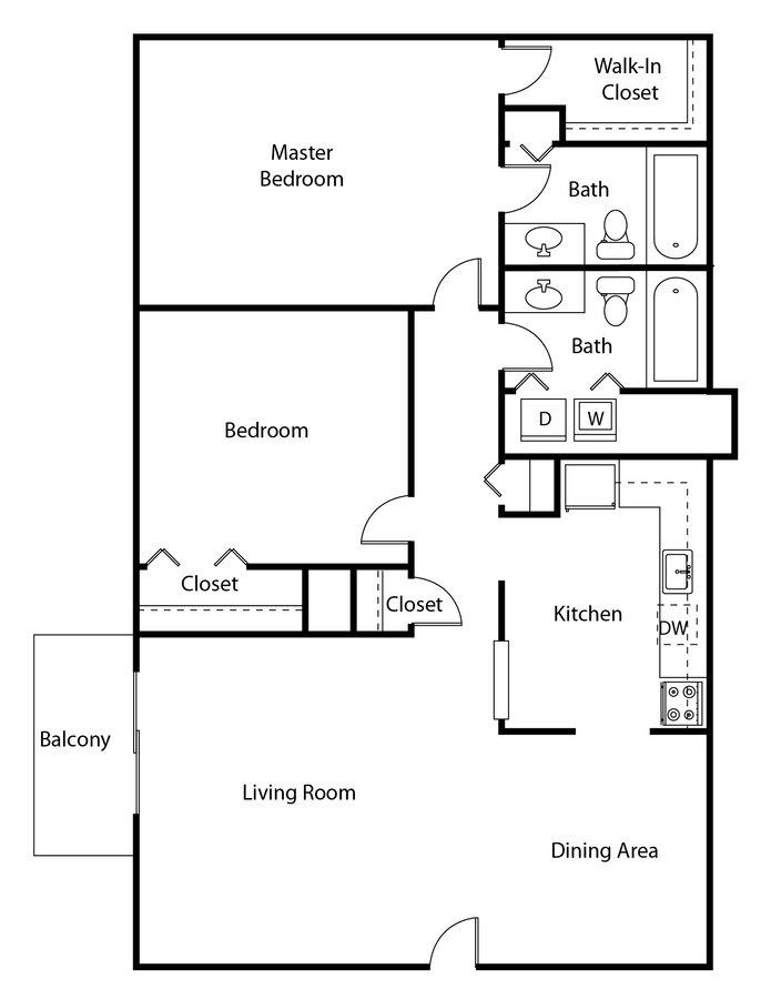 2 Bedrooms 2 Bathrooms Apartment for rent at Lacota Apartments in Dunwoody, GA