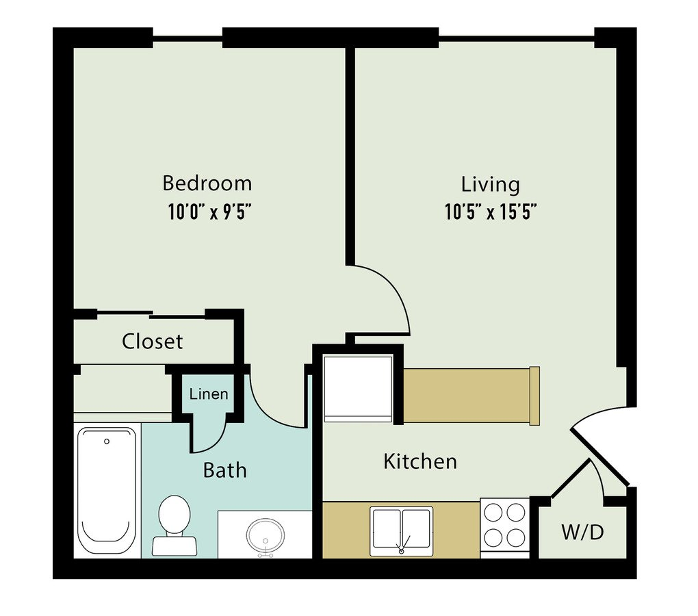 1 Bedroom 1 Bathroom Apartment for rent at Lake Castleton Apartment Homes in Indianapolis, IN