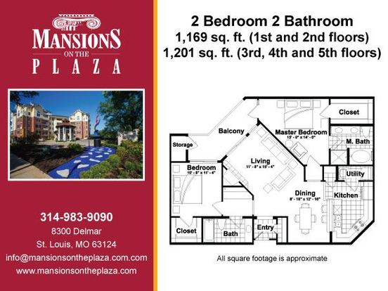 2 Bedrooms 2 Bathrooms Apartment for rent at Mansions On The Plaza in St Louis, MO
