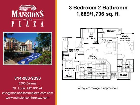 3 Bedrooms 2 Bathrooms Apartment for rent at Mansions On The Plaza in St Louis, MO