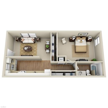 1 Bedroom 1 Bathroom Apartment for rent at Brookview Apartment Homes in Douglasville, GA