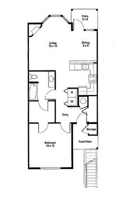 1 Bedroom 1 Bathroom Apartment for rent at South Parc At Bethany in Portland, OR