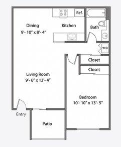 1 Bedroom 1 Bathroom Apartment for rent at Orchard Glen Apartments in Santa Clara, CA