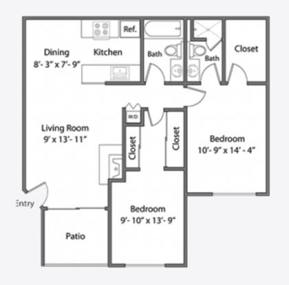 2 Bedrooms 2 Bathrooms Apartment for rent at Orchard Glen Apartments in Santa Clara, CA