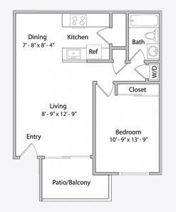 1 Bedroom 1 Bathroom Apartment for rent at Park Central Apartments in Santa Clara, CA