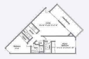 2 Bedrooms 2 Bathrooms Apartment for rent at Park Central Apartments in Santa Clara, CA