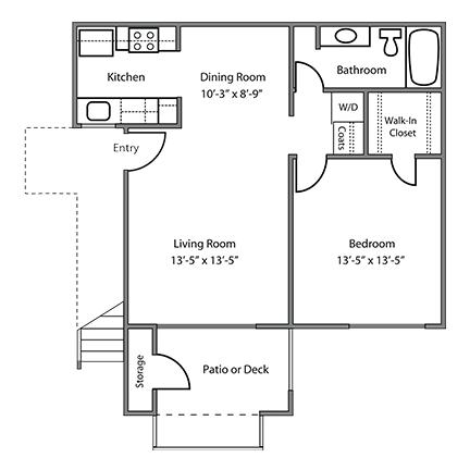1 Bedroom 1 Bathroom Apartment for rent at Alderwood Apartments in Santa Clara, CA