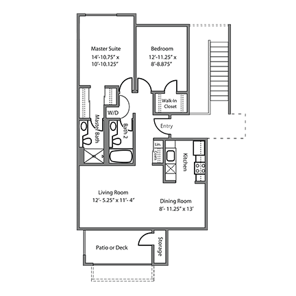 2 Bedrooms 2 Bathrooms Apartment for rent at Alderwood Apartments in Santa Clara, CA