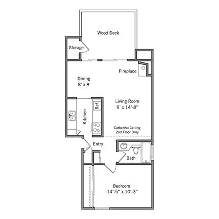 1 Bedroom 1 Bathroom Apartment for rent at Boardwalk Apartments in Santa Clara, CA