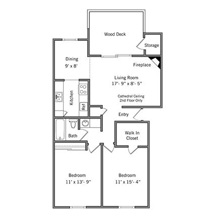2 Bedrooms 1 Bathroom Apartment for rent at Boardwalk Apartments in Santa Clara, CA