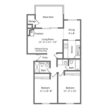 2 Bedrooms 2 Bathrooms Apartment for rent at Boardwalk Apartments in Santa Clara, CA