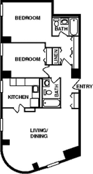 2 Bedrooms 2 Bathrooms Apartment for rent at Webster Hall Apartments in Pittsburgh, PA