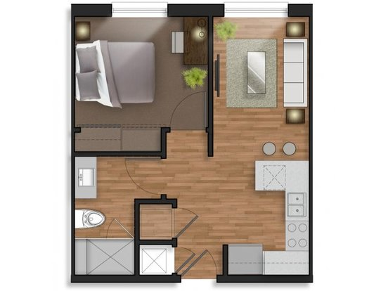1 Bedroom 1 Bathroom Apartment for rent at The Stack in College Station, TX