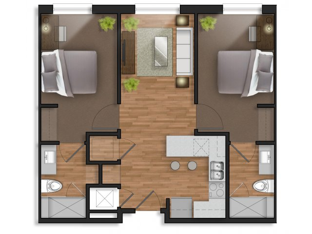 2 Bedrooms 2 Bathrooms Apartment for rent at The Stack in College Station, TX