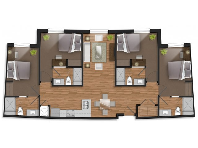 4 Bedrooms 4+ Bathrooms Apartment for rent at The Stack in College Station, TX
