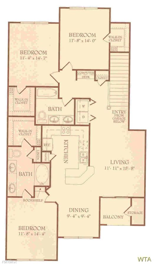 3 Bedrooms 2 Bathrooms Apartment for rent at 12430 Metric Blvd in Austin, TX