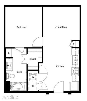 1 Bedroom 1 Bathroom Apartment for rent at 11711 Domain Dr in Austin, TX