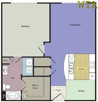 1 Bedroom 1 Bathroom Apartment for rent at 11400 Domain Dr Ste 115 in Austin, TX