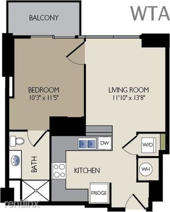1 Bedroom 1 Bathroom Apartment for rent at 78 Rainey Street in Austin, TX