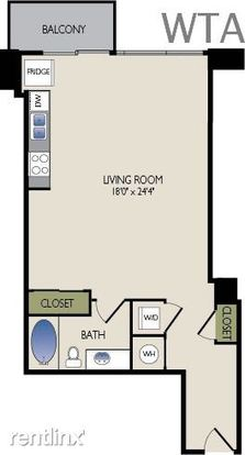 Studio 1 Bathroom Apartment for rent at 78 Rainey Street in Austin, TX