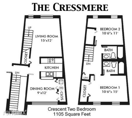 2 Bedrooms 2 Bathrooms Apartment for rent at Crescent Centre Apartments in Louisvillie, KY