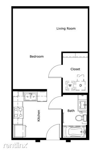Studio 1 Bathroom House for rent at In The Heart Of The Domain in Austin, TX