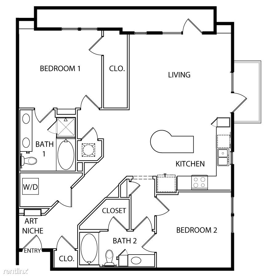 2 Bedrooms 2 Bathrooms House for rent at Vibrant East 6th Corridor in Austin, TX