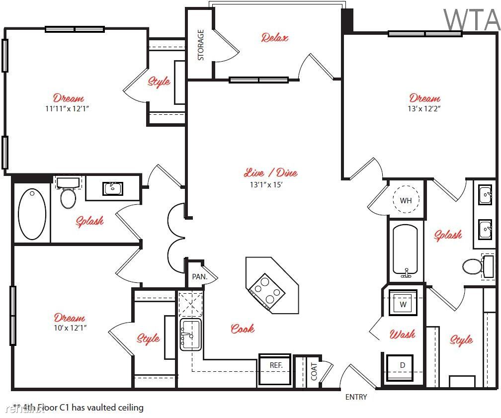 3 Bedrooms 2 Bathrooms Apartment for rent at A Place To Call Home / South Congress 78745 in Austin, TX