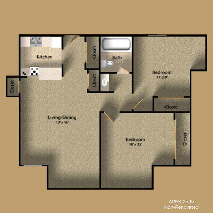 2 Bedrooms 1 Bathroom Apartment for rent at Apex Apartments in Seattle, WA