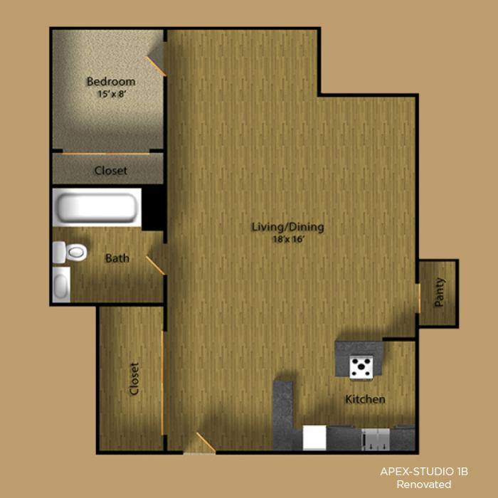1 Bedroom 1 Bathroom Apartment for rent at Apex Apartments in Seattle, WA