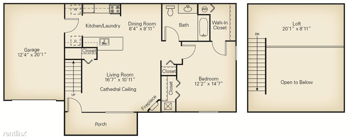 1 Bedroom 1 Bathroom Apartment for rent at The Villas Of Madison in Madison, OH
