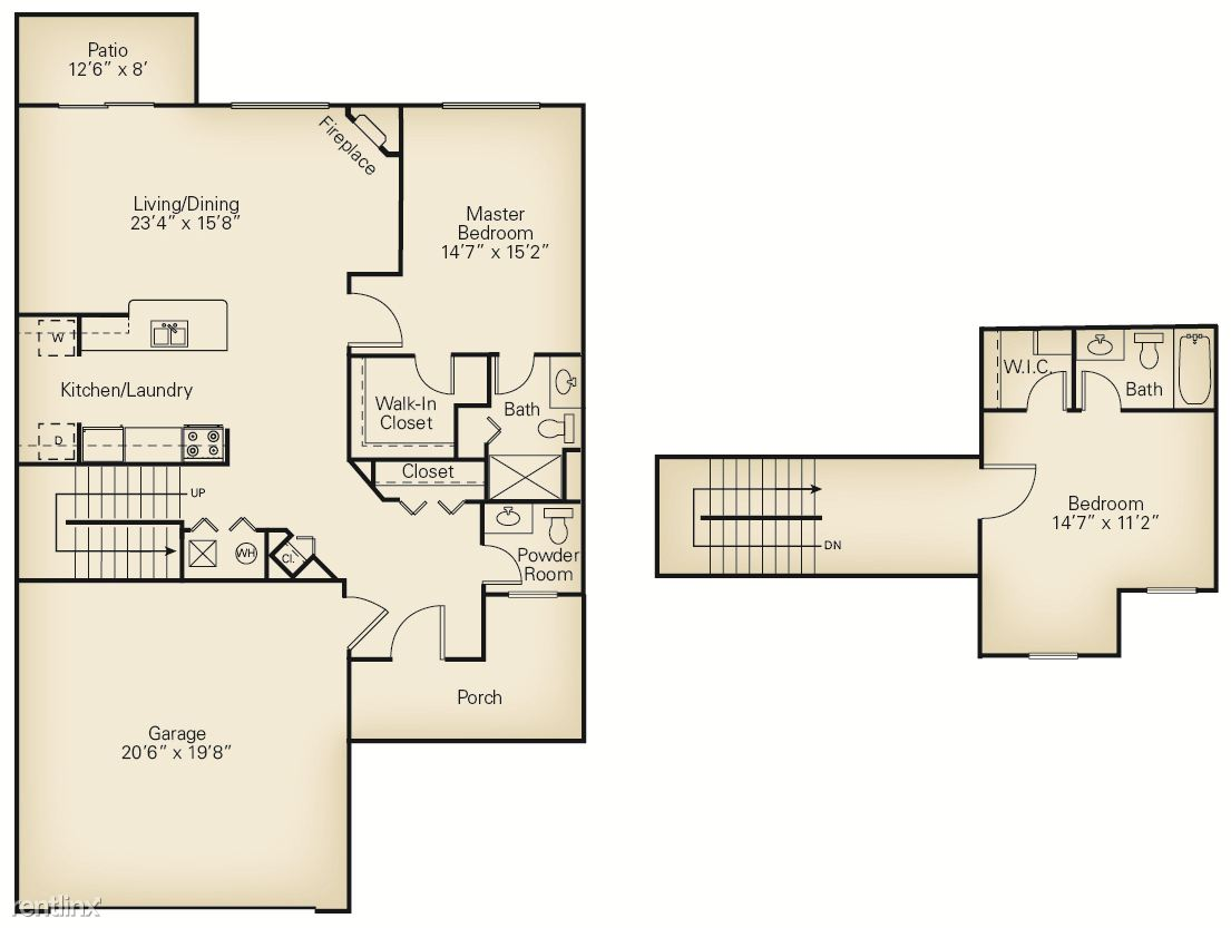 2 Bedrooms 2 Bathrooms Apartment for rent at The Villas Of Madison in Madison, OH