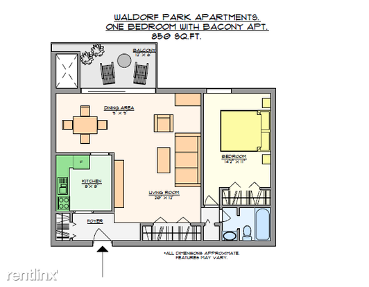 1 Bedroom 1 Bathroom House for rent at Waldorf Park Apartments in Pittsburgh, PA