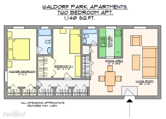 2 Bedrooms 2 Bathrooms House for rent at Waldorf Park Apartments in Pittsburgh, PA