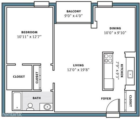 1 Bedroom 1 Bathroom House for rent at Park View Apartments in Pittsburgh, PA